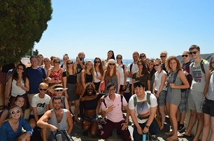 Our students on their weekend Trip to Cadaques