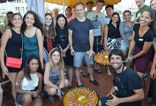 Cooking Paella Class on the sun terraces